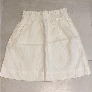 NEW ! J.Crew Paper Bag Skirt in White.